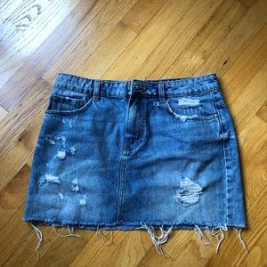 Zara blue denim skirt size M